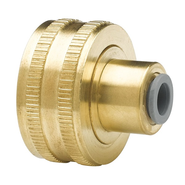 Female Hose Bib, 1/4 In, Low-Lead Brass