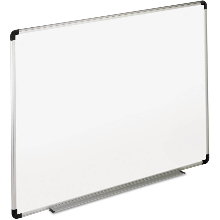 Universal 48 x 36 in. Melamine Dry Erase Board with Aluminum/Plastic Frame