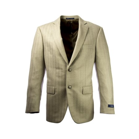 Pal Zileri Men's Herringbone Wool Two Button Blazer IT 50R