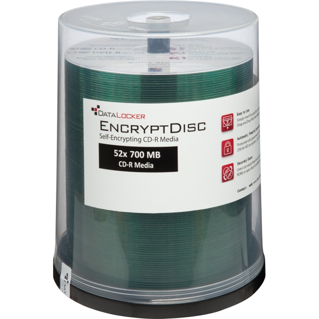 DATALOCKER ENCRYPTDISC CD 100CT FIPS VALIDATED SELF ENCRYPTING CD