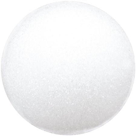 Styrofoam Balls, 3-Inch, White, Pack of 6, Recyclable Styrofoam is the perfect base for all floral and craft projects By FloraCraft