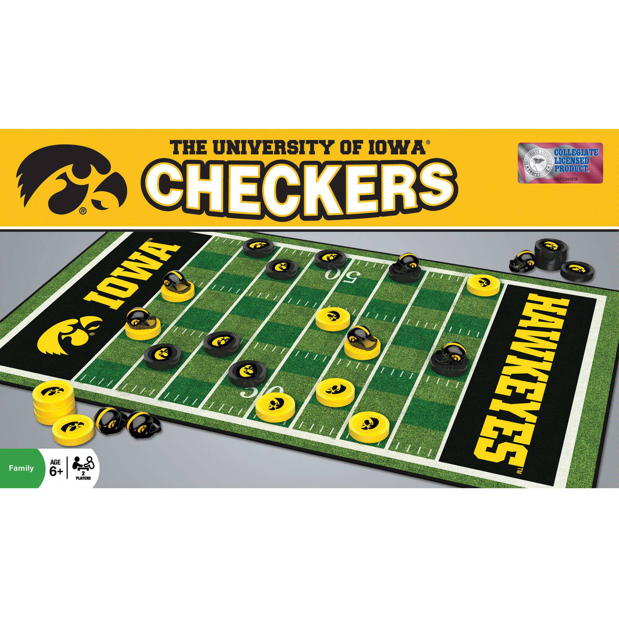 MasterPieces NCAA Iowa Checkers Game by Generic