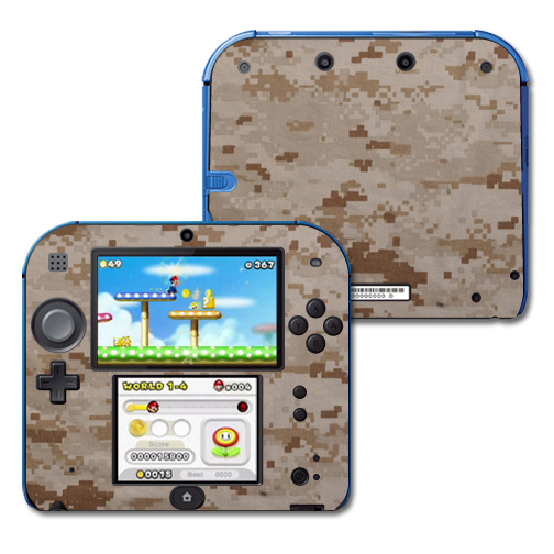 Mightyskins Protective Vinyl Skin Decal Cover for Nintendo 2DS wrap sticker skins Desert Camo