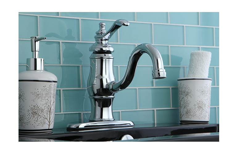 Kingston Brass Heritage Single Handle Bathroom Faucet With Push Up Drain Walmart Com Walmart Com