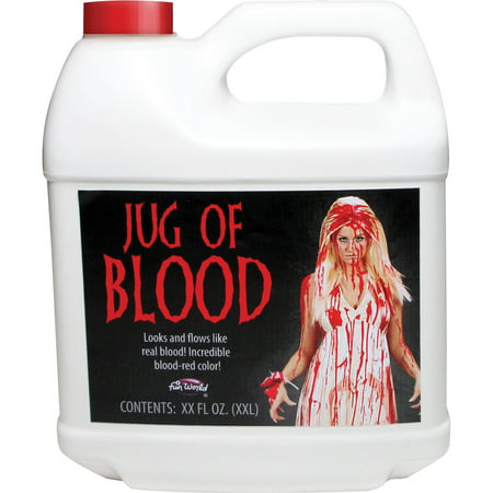 1/2 Gallon Blood Adult Halloween Accessory (Half And Half Halloween Makeup)