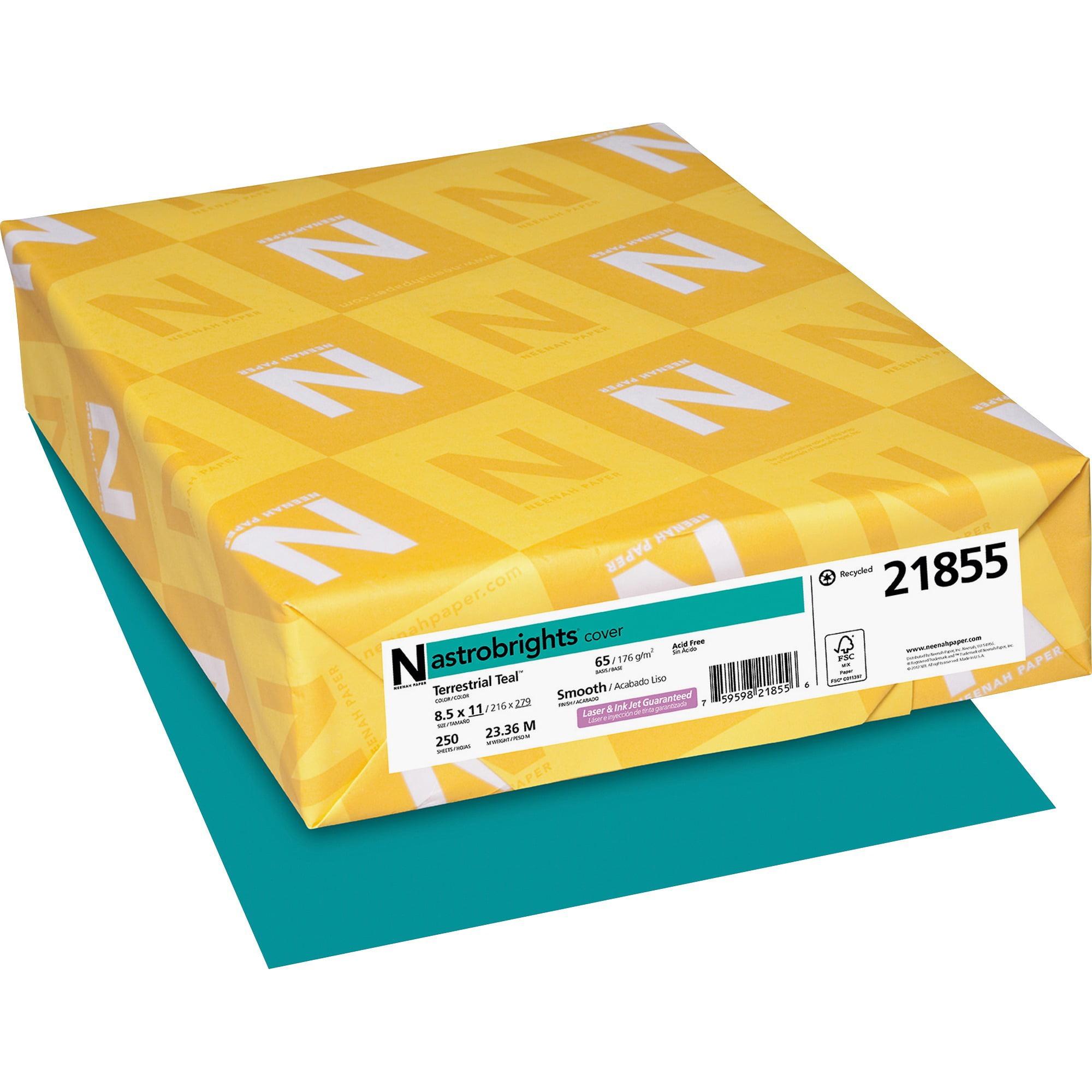 Astrobrights, WAU21855, Colored Cardstock, 250 / Pack, Terrestrial Teal
