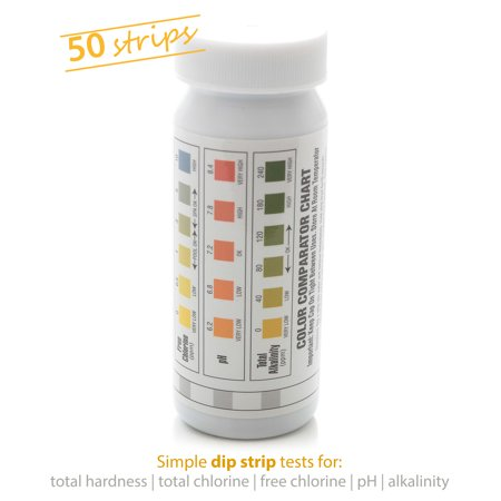 Milliard 50 Count 5 In 1 Spa And Pool Water Test Strips Kit Essential For Maintaining Chemistry Easy Quick Efficient