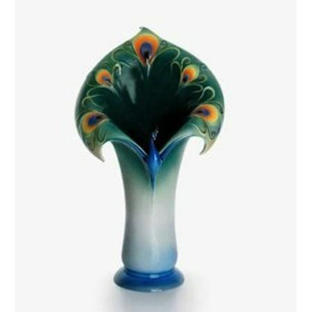 Franz Porcelain - Vase - Peacock Splendor