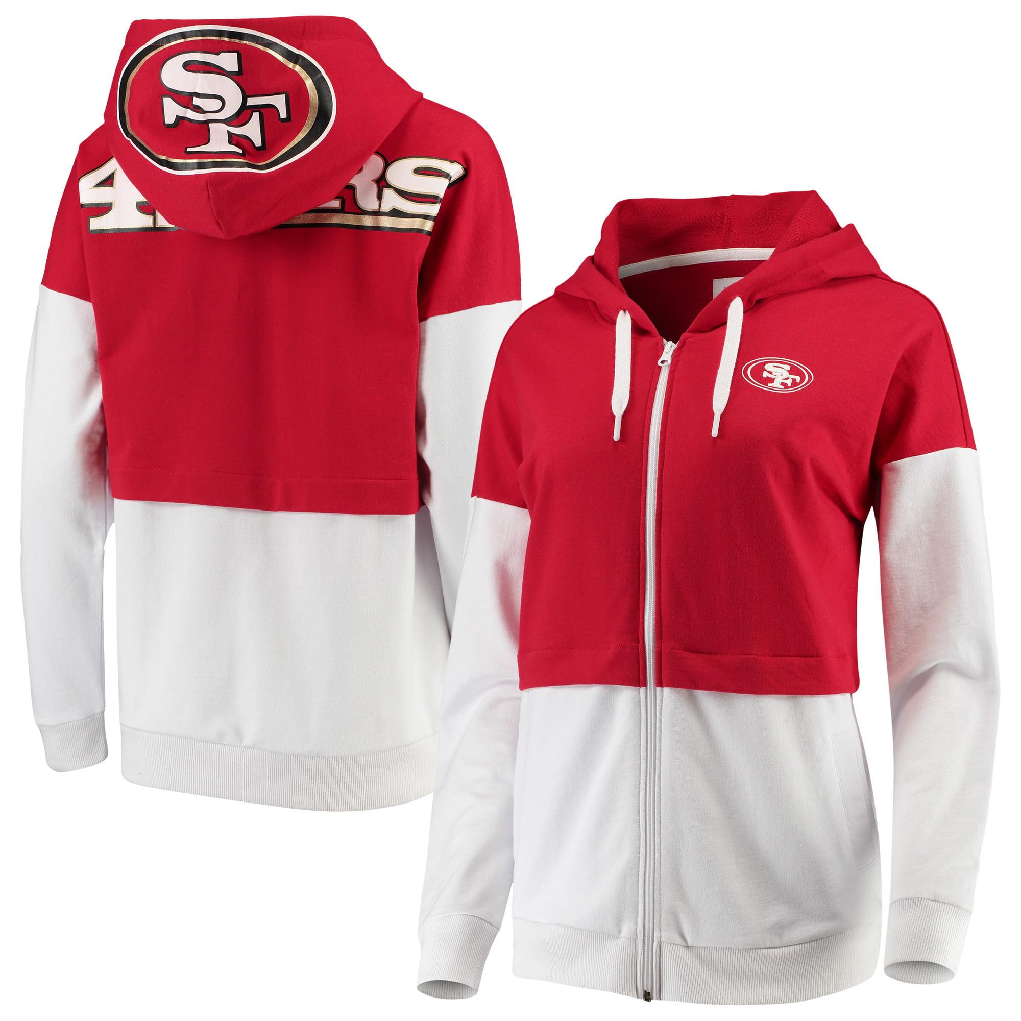 San Francisco 49ers G-III 4Her by Carl Banks Women's Game Changer Full-Zip Hoodie - Scarlet/White