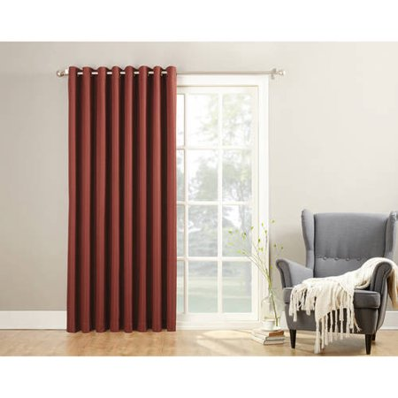 no 918 montego extra wide 100 textured grommet patio curtain panel with detachable wand. Black Bedroom Furniture Sets. Home Design Ideas