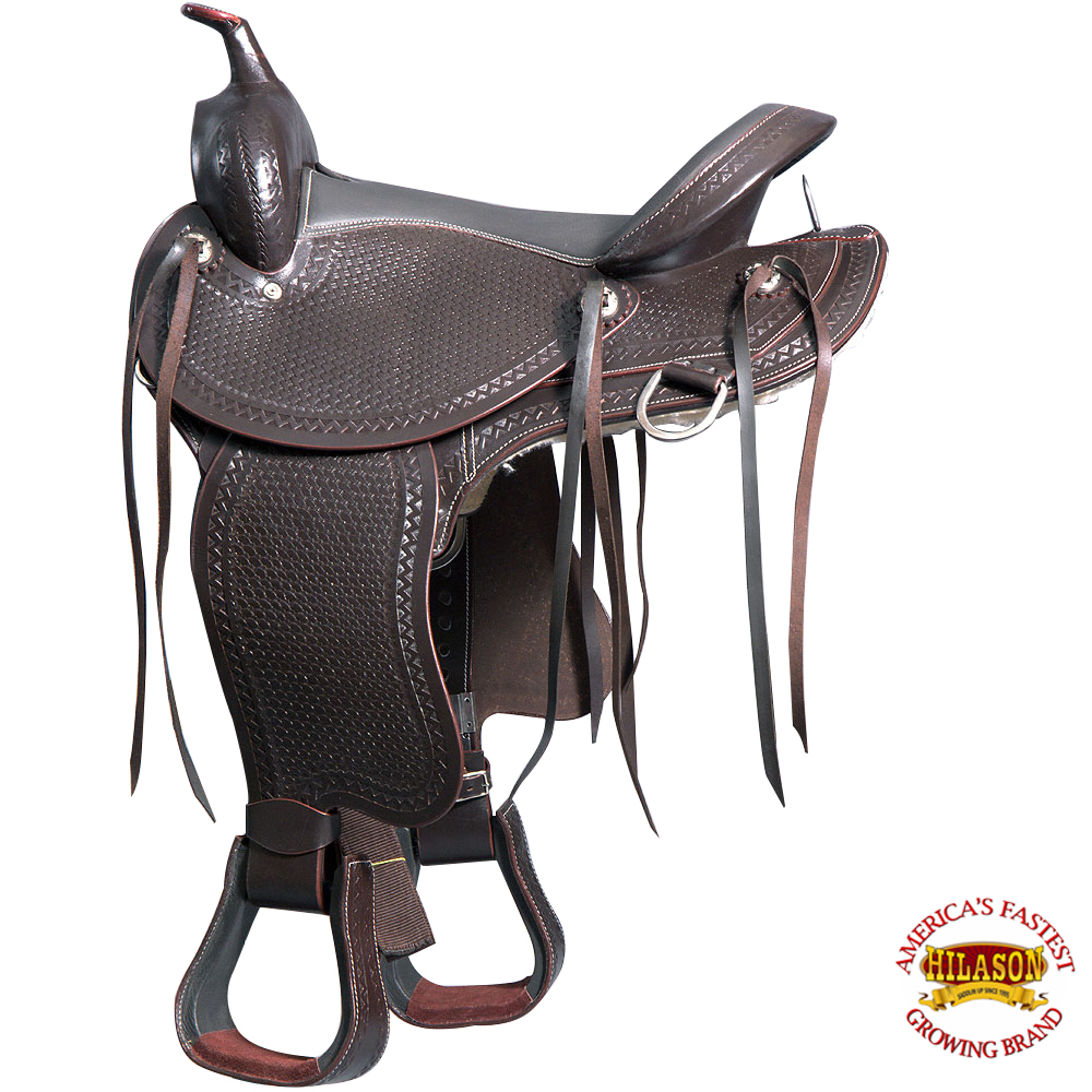 "M1-16"" GREAT AMERICAN GAITED TRAIL PLEASURE ENDURANCE HORSE LEATHER SADDLE"