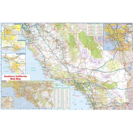 36x54 Southern California Official Executive Laminated Wall Map