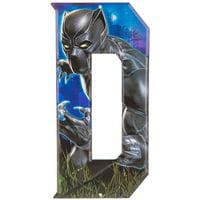 Black Panther Superhero Letter D Metal Sign Home Decoration Wall Art Media Room Man Cave