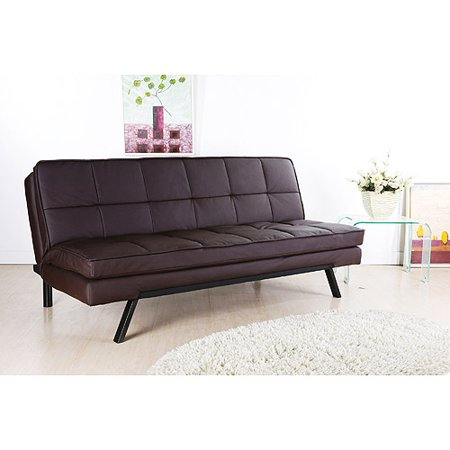 Hemingway Convertible Futon Sofa Bed Dark Brown Faux