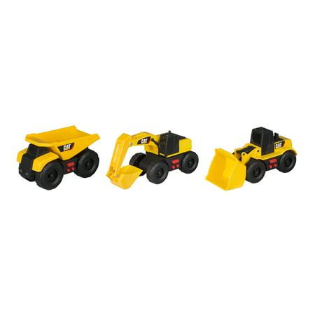 - Caterpillar Mini Mover Lights & Sounds 3 pack Dump Truck, Wheel Loader & Excavator