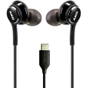 OEM UrbanX 2021 Stereo Headphones for Samsung Galaxy S21 Ultra 5G Braided Cable - Designed by AKG - with Microphone (Black) USB-C Connector (US Version with Warranty)