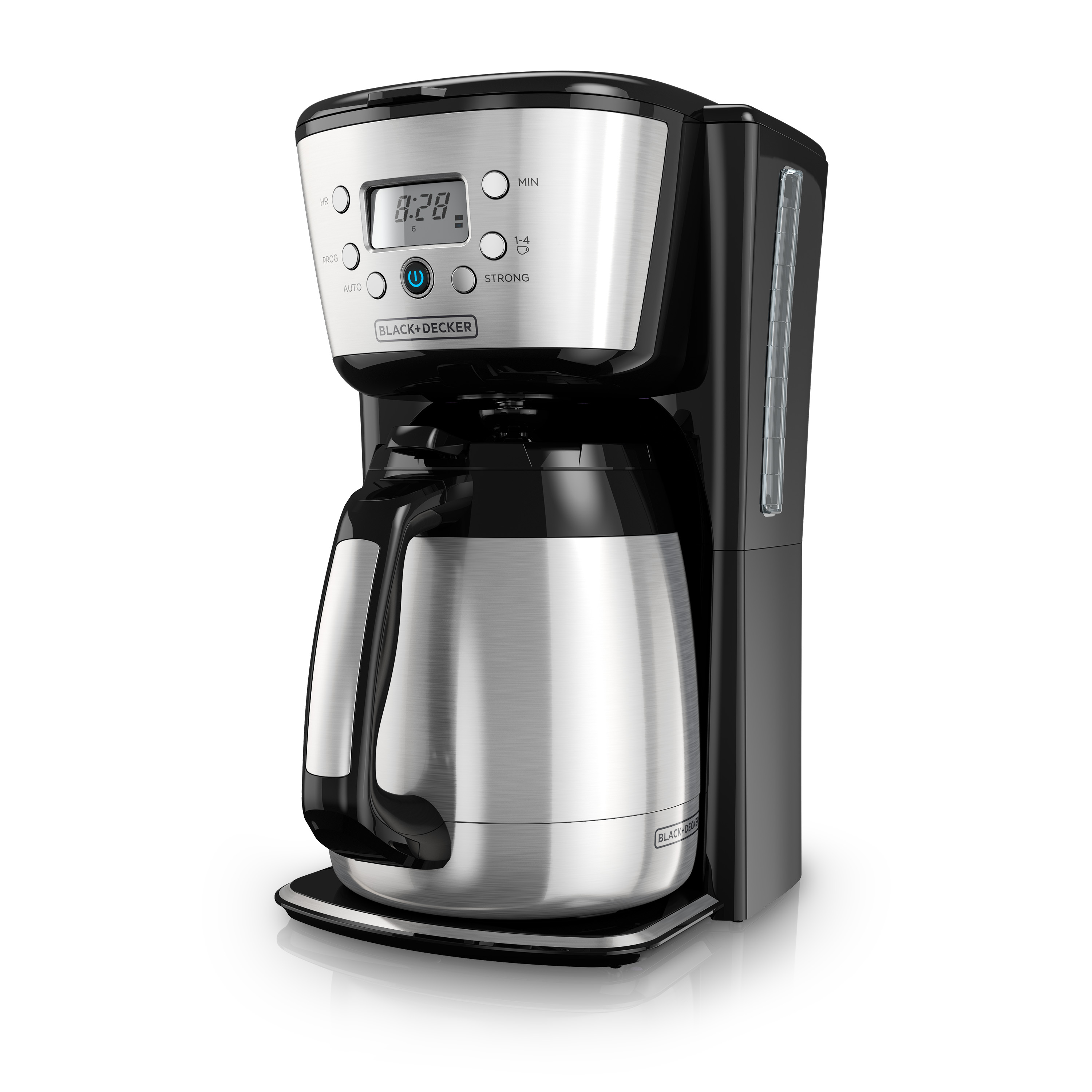 BLACK+DECKER 12-Cup Thermal Programmable Coffeemaker, Stainless Steel, CM2036S