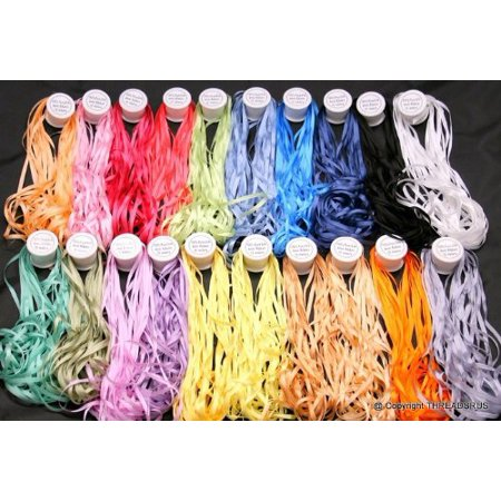 New 7mm size ThreadNanny 20 Spools of 100% Pure Silk Embroidery Ribbons - 7mm x 10 Meters