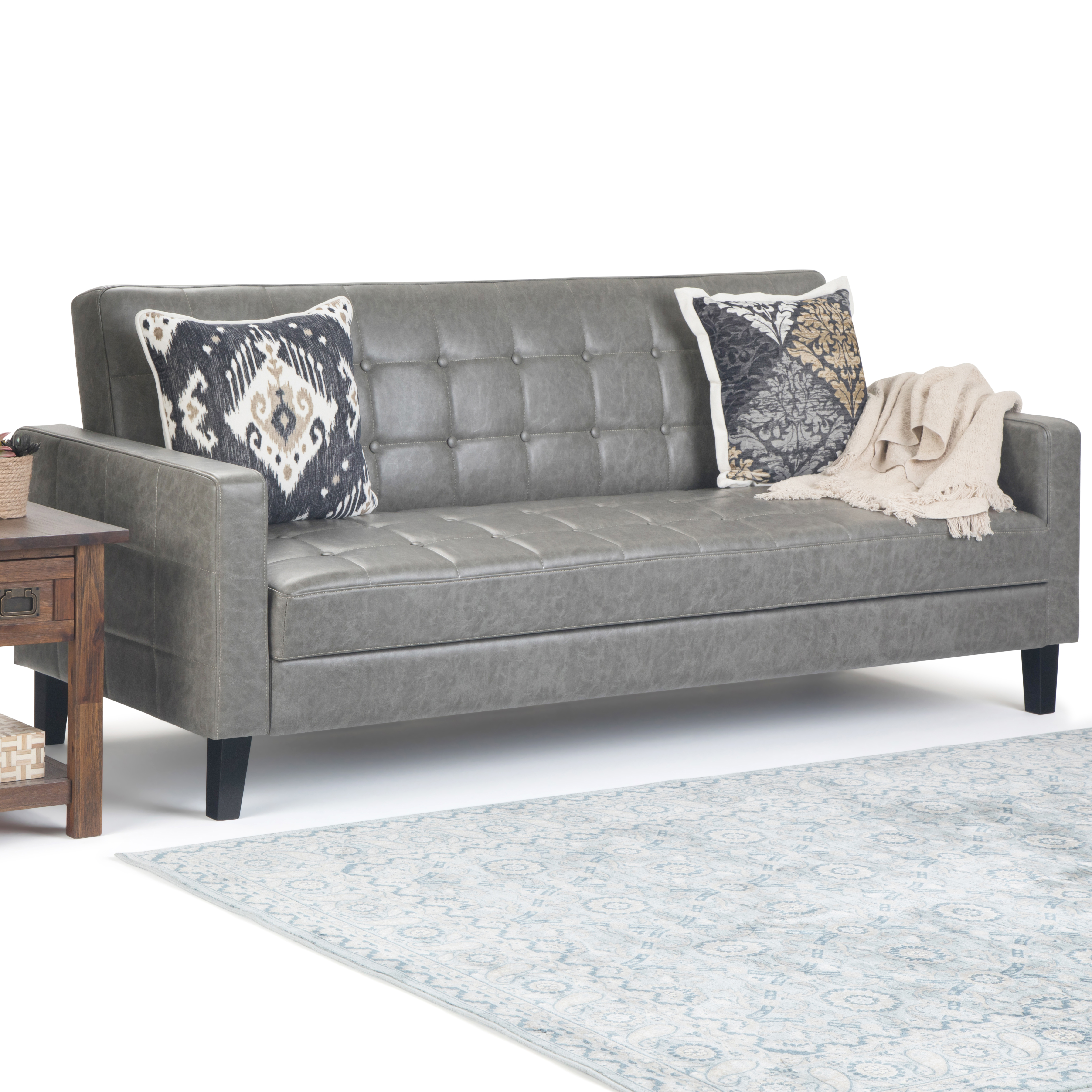 Brooklyn Max Gatwick Click Clack Sofa Bed With Lift Up Seat