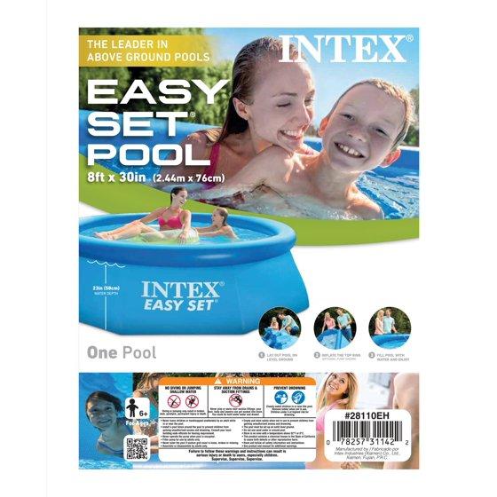 Intex 8 ft. x 30 in. Easy Set Swimming Pool - Walmart.com