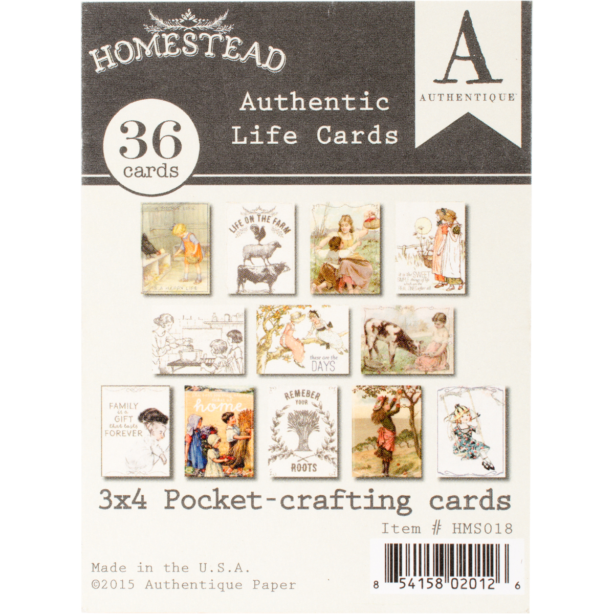 "Homestead Authentic Life Cards, Pocket Crafting & Journaling, 3"" x 4"" Cards"