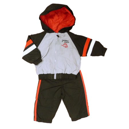 Little Rebels Infant & Toddler Boys Gray Dino Jacket & Pants Track Suit Set - Dinosaur Suit Rental
