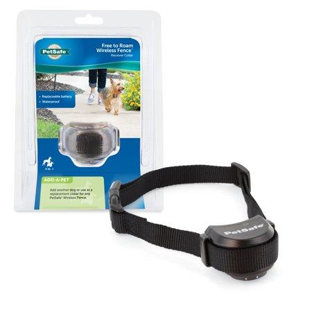 PetSafe Free to Roam Fence Receiver Collar for Dogs and Cats, Waterproof, Tone and Static Correction
