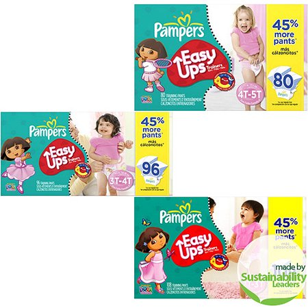 Pampers - Easy Ups Training Pants - Value Pack, Girl (sizes 2T/3T, 3T/4T, 4T/5T)