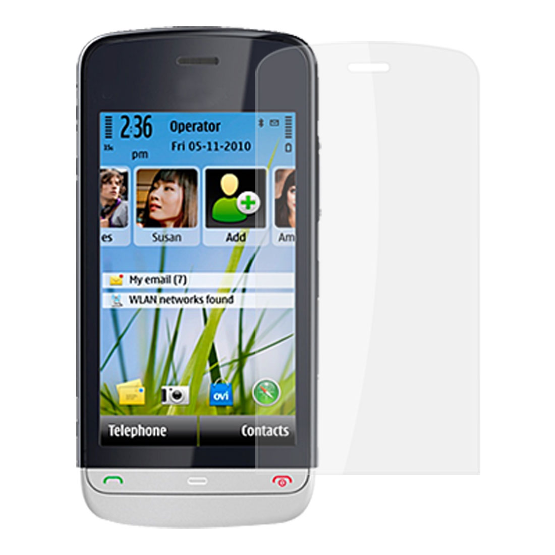 2 Pcs Anti-dust Clear Screen Protector Film for Nokia C5-03
