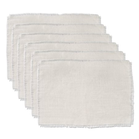 - DII Jute/Burlap Placemat, Set of 6, Off White - Perfect for Fall, Thanksgiving, Dinner Parties, Weddings, Showers and Everyday Use