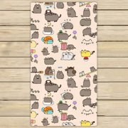 GCKG Funny Hipster Cat Hand Towel,Spa Towel,Beach Bath Towels,Bathroom Body Shower Towel Bath Wrap Size 30x56 inches