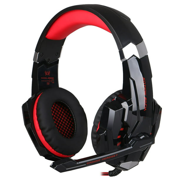 Kotion Each G9000 3 5mm Gaming Headphone Game Headset Noise Cancellation Earphone With Mic Led Light Black Red For Ps4 Laptop Tablet Mobile Phones Walmart Com Walmart Com
