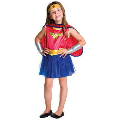 Wonder Woman Tutu Girls Toddler Halloween Costume (Girls Wonder Woman Tutu Costume)