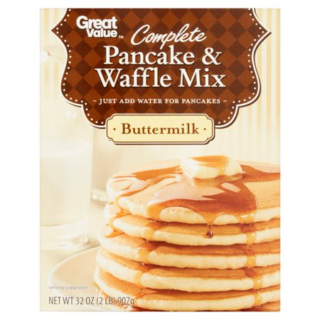 Great Value Buttermilk Complete Pancake & Waffle Mix, 32 oz - Walmart ...