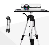 VANKYO Aluminum Tripod Projector Stand, Adjustable Laptop Stand, Multi-Function Stand, Computer Stand Adjustable Height 17'' to 46'' for Laptop with Plate and Carrying Bag (Silver)