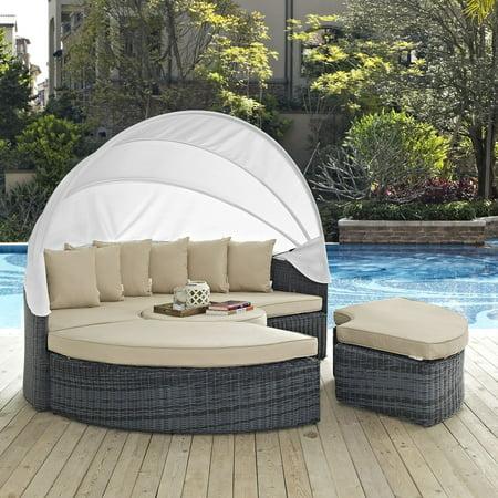 Modway Summon Canopy Outdoor Patio Sunbrella Daybed ...