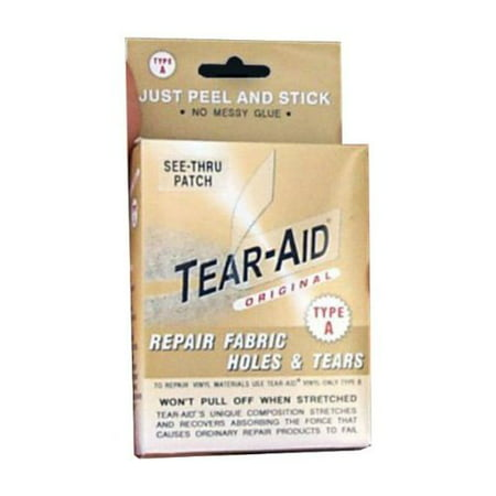 Tear Aid D-ROLL-A-20 Boat Repair Patch Kit for Canvas, Rubber, Neoprene & More - Wood Boat Kits