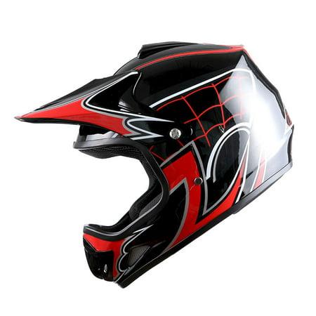 - WOW Youth Kids Motocross BMX MX ATV Dirt Bike Helmet Spider Red