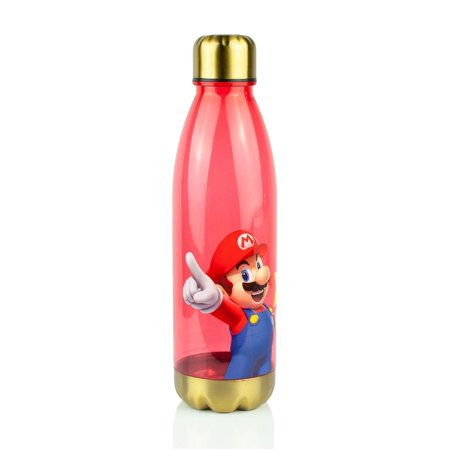 Super Mario Bros Red Plastic Water Bottle | 20 oz