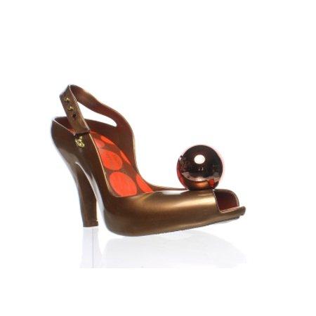 Vivienne Westwood Womens Anglomania Brown Peep Toe Heels Size (Vivienne Westwood Pearl)