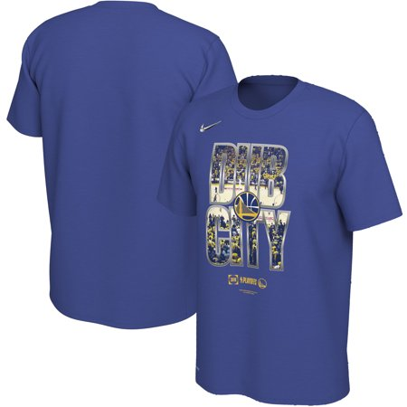 check out 637d9 a28f0 Golden State Warriors Nike 2019 NBA Playoffs Bound City DNA Dri-FIT T-Shirt  - Blue