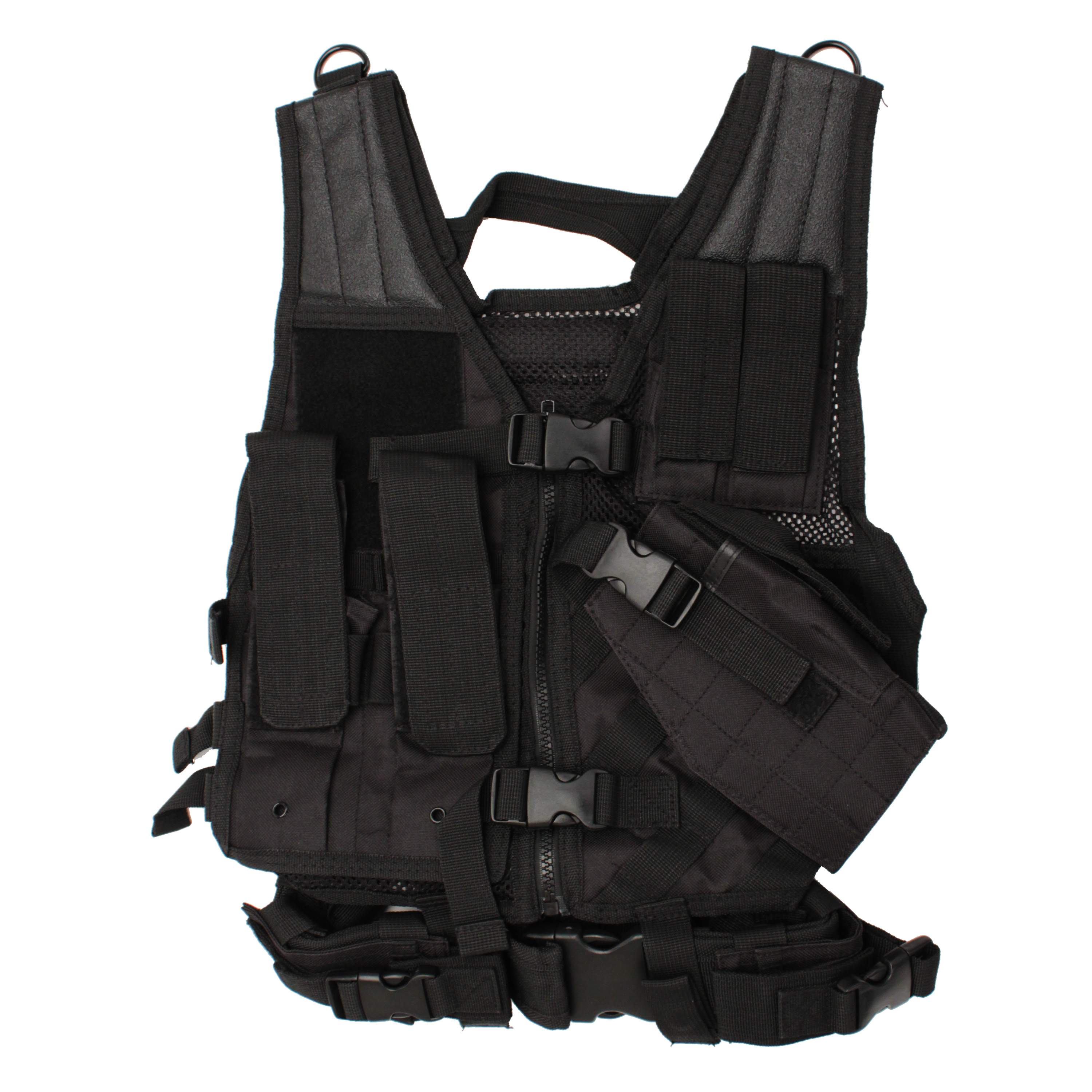 Vism Childrens Tactical Vest, Black CTVC2916B Multi-Colored