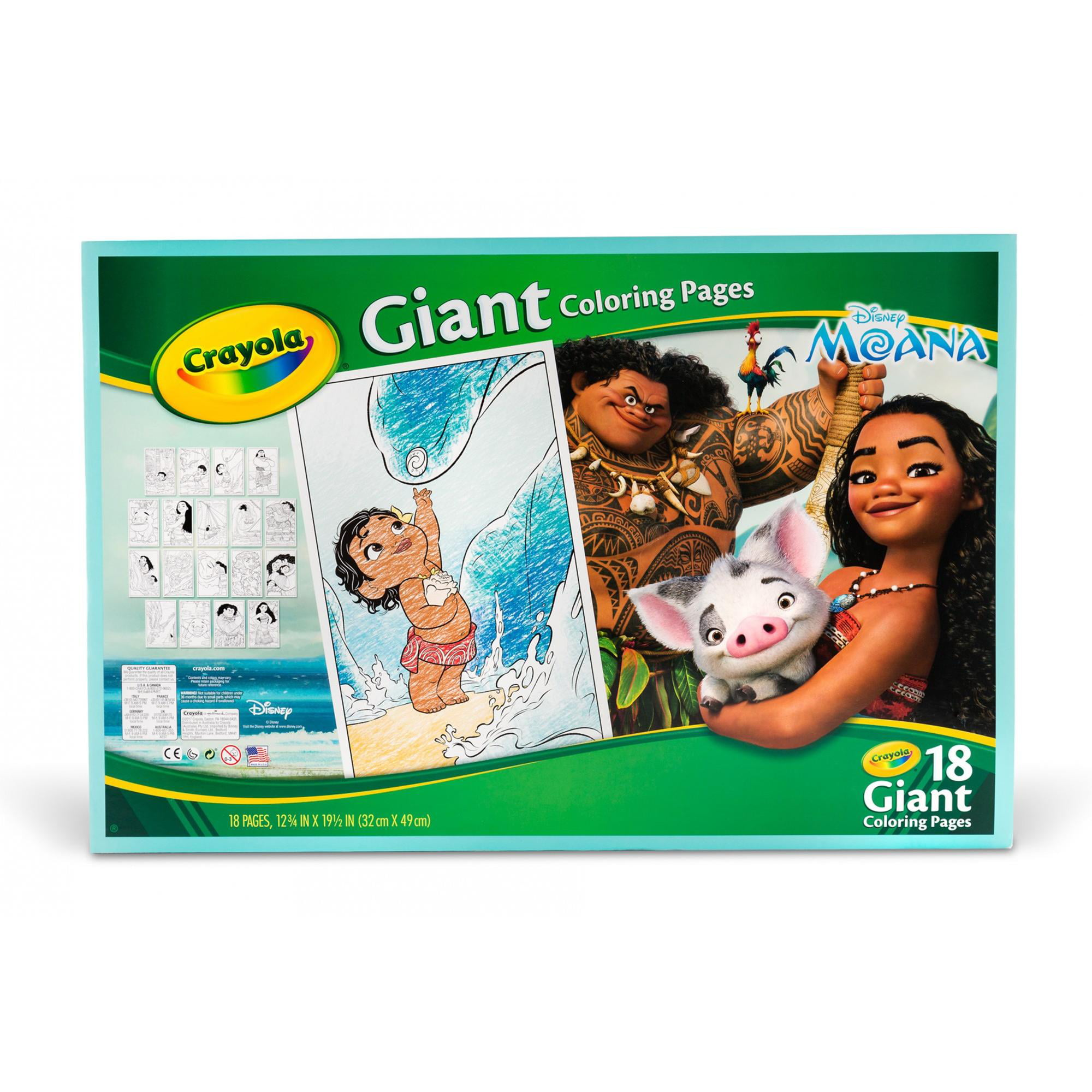 Crayola, Disney\'s Moana, 18 Giant Coloring Pages, Gift for Girls ...