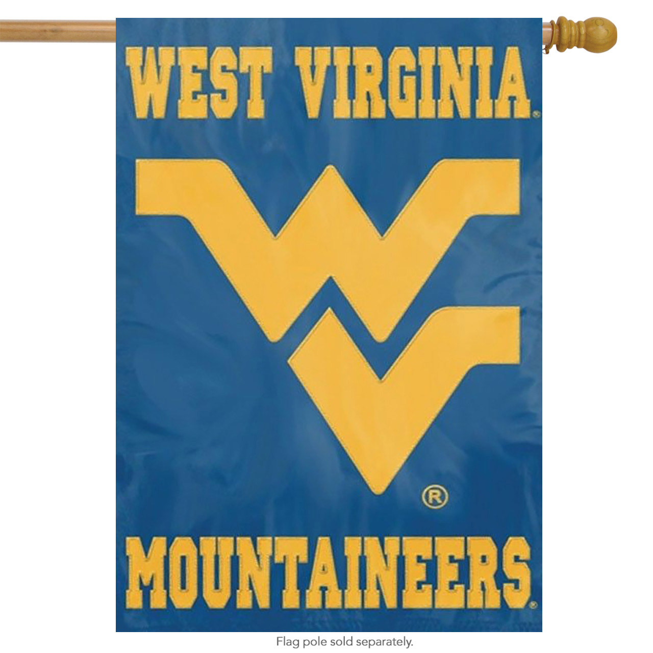 """WEST VIRGINIA MOUNTAINEERS 44""""x28"""" 2-SIDED BANNER FLAG"""