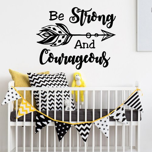 Decal House Be Strong and Courageous Wall Decal