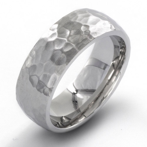 Crucible Stainless Steel Hammered Ring