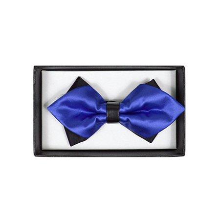 Men's Royal Blue Solid Diamond Tip Bow Tie - DBB3030-38
