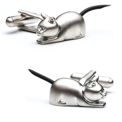 PSN29 Cat with Tail Cufflinks