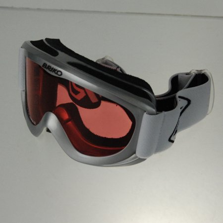 Briko Performaniac Spunky Ski/Snowboard Freeride Goggles - Silver / Rose / White