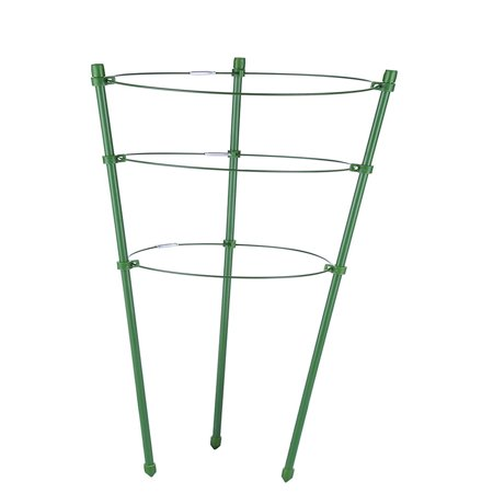 Tomato and Plant Support Cage, Stakes, Trellis, Gardening Climbing Growing Cages with Adjustable Rings
